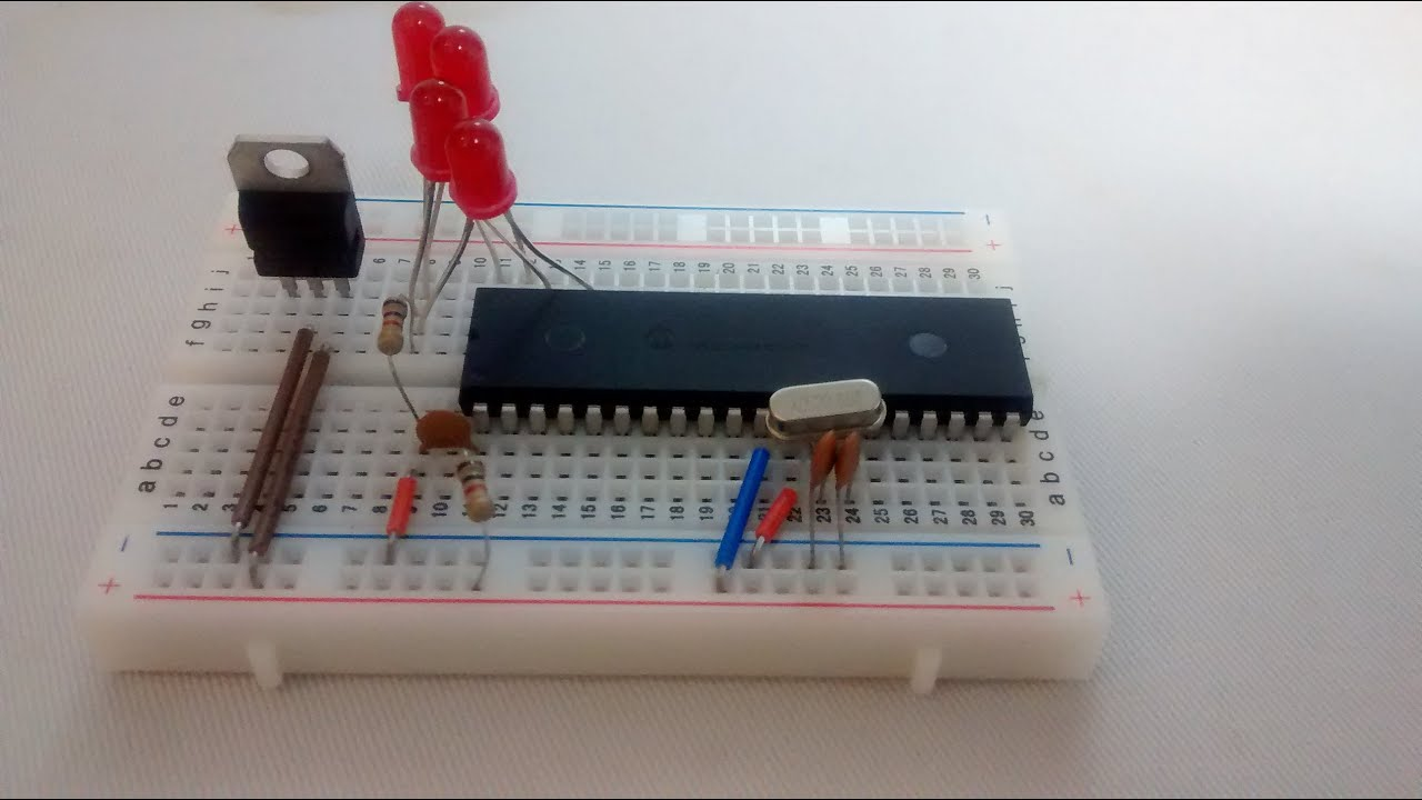 Pic16f877a Basic Breadboard Connection Circuit Explained