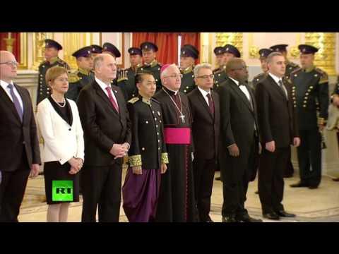 Vladimir Putin putting a subtle terror label at a Vatican cardinal
