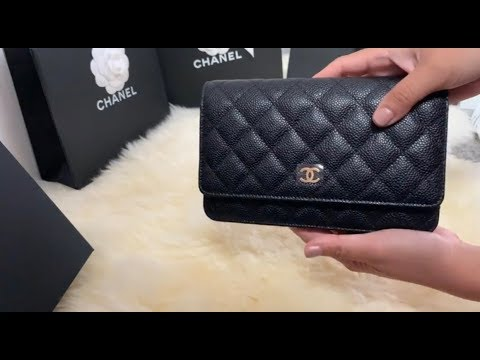 Unboxing Chanel 19b collection  New WoC metal zipper pull and magnetic  closure