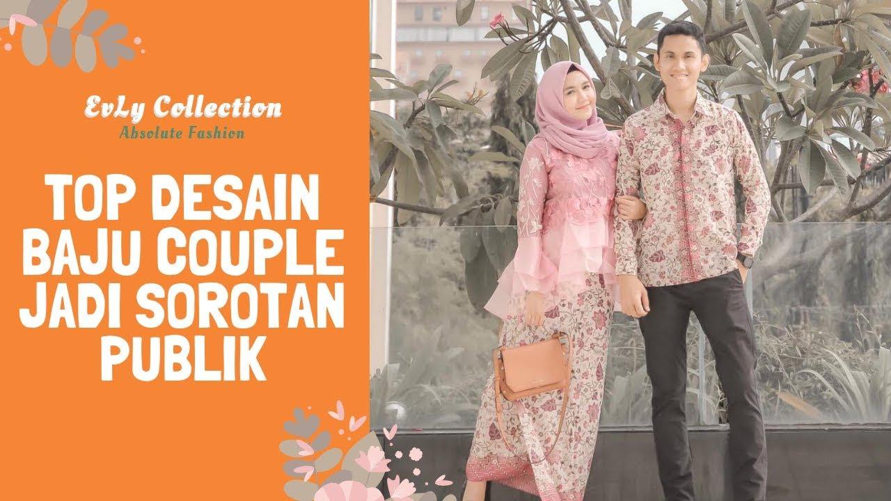 Model Baju Couple Terbaru Kombinasi Tille Bordir Batik