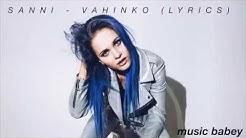 SANNI - Vahinko (lyrics video)