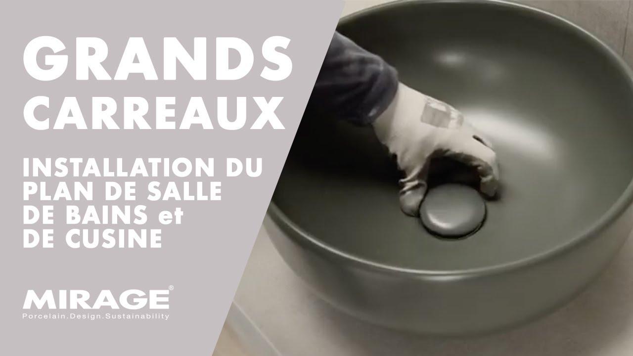 Tutoriel Grands Carreaux 4 Installation Du Plan De Salle De Bains Et De Cuisine En Gres Cerame