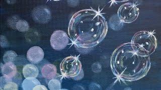 Easy Soap Bubbles Acrylic Tutorial Beginners