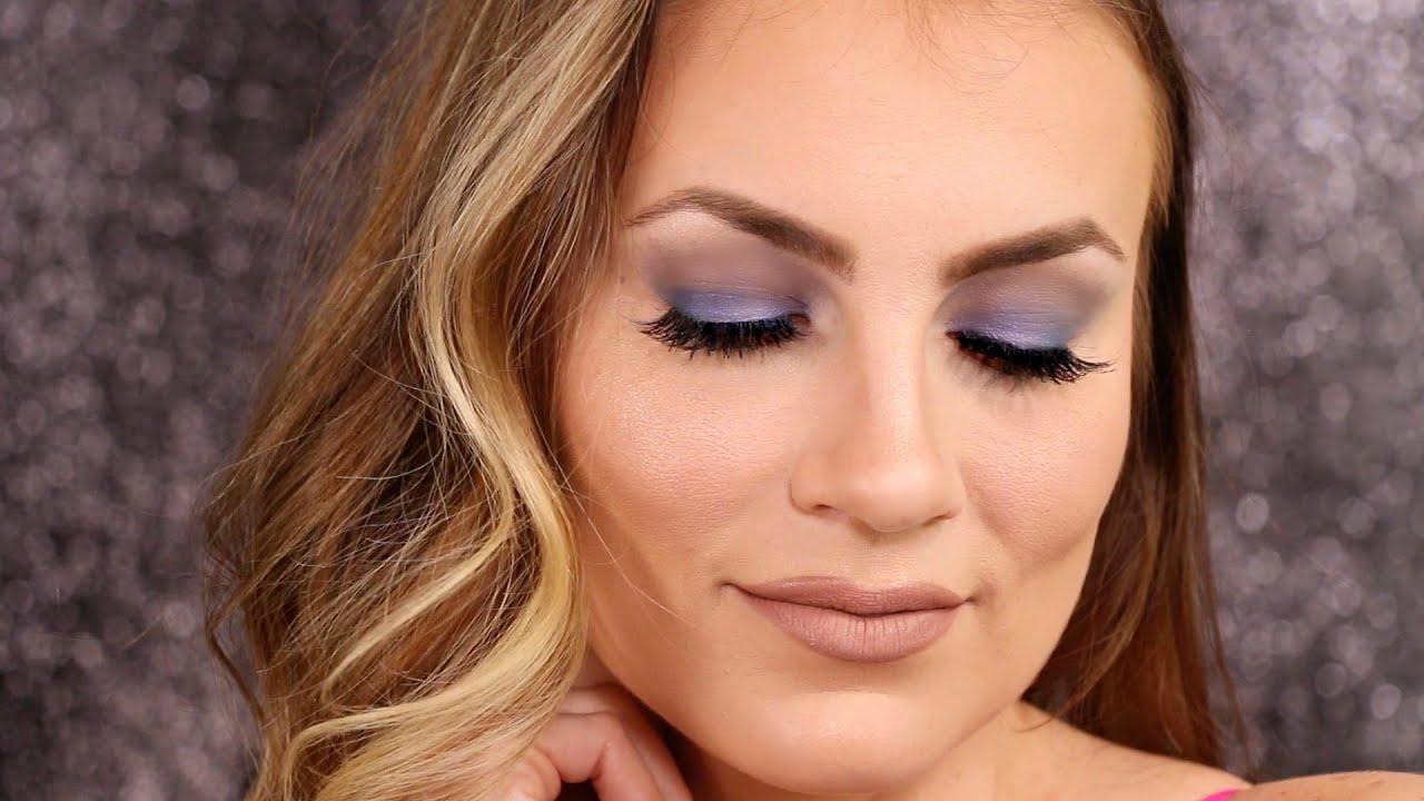 soft blue smokey eye makeup tutorial angela lanter youtube