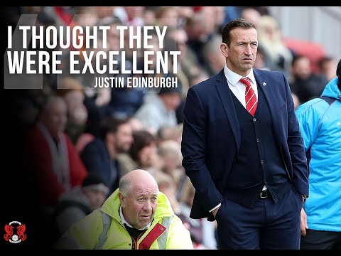 REACTION: Head Coach Justin Edinburgh following the 1-0 win over Wrexham AFC