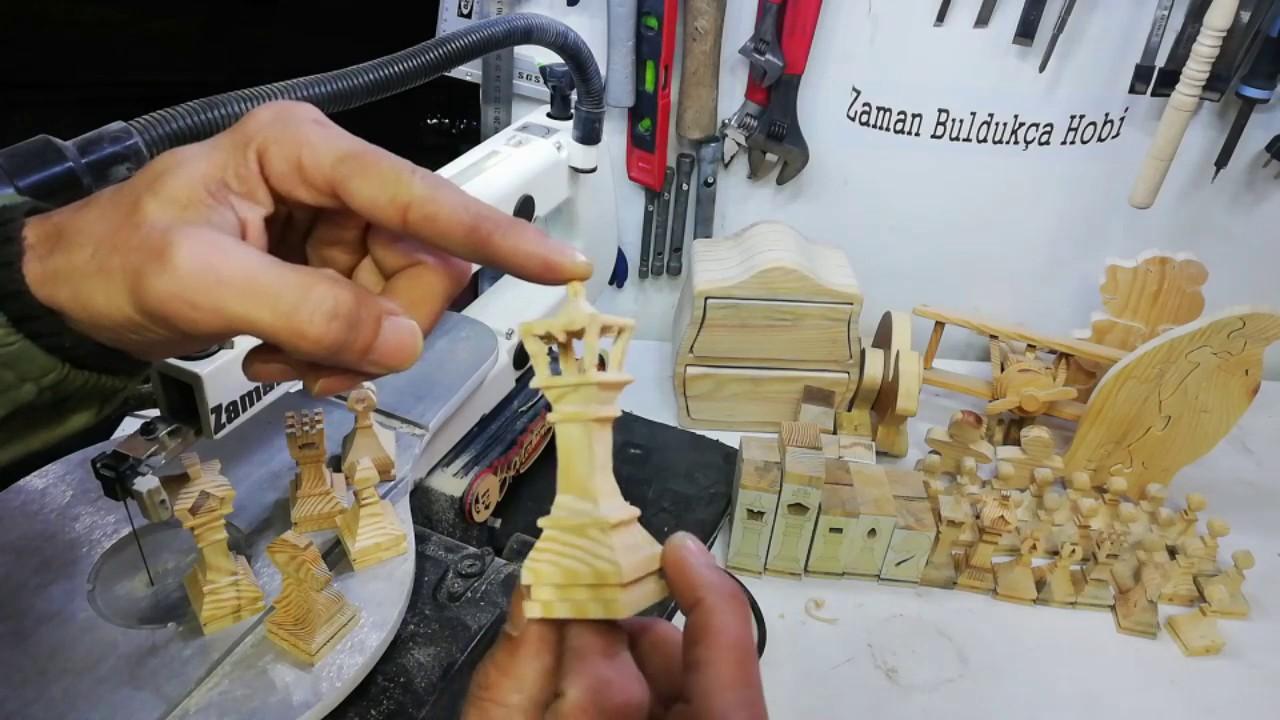 how to do wooden chess/ kıl testere çalışması/ 3d vezir yapımı/ jig saw