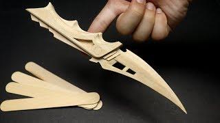 How to make this Custom Futuristic knife using popsicle sticks - DIY