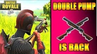 Fortnite use double Pump and configuration straike pack dominator