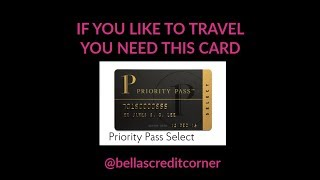 Don't you want to relax in an airport lounge? Then you need this card.