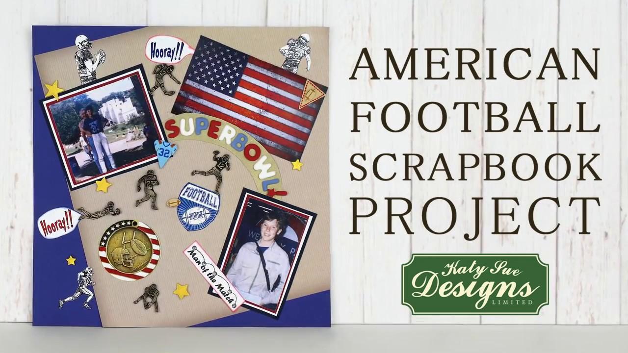 american football scrapbook project youtube