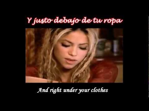 Shakira - Underneath Your Clothes Subtitulado Español Ingles