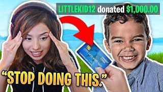 Pokimane Mad at Kid Using Mom's Credit Card to Play Fortnite with Her! Fortnite Meilleurs moments #83