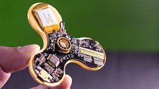 What Inside in Expensive Text LED Spinner