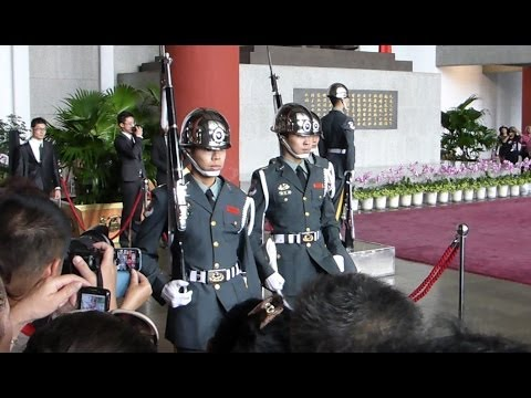 The Army Honor Guards' Changing Duty at Sun Yat-Sen Memorial Hall HD (May 2, 2014)