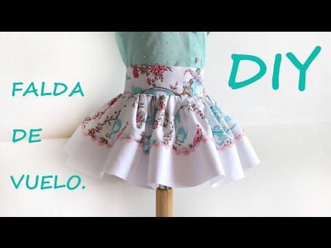 5627dafd4 Falda de vuelo para niña. Como hacer ropa infantil. - YouTube