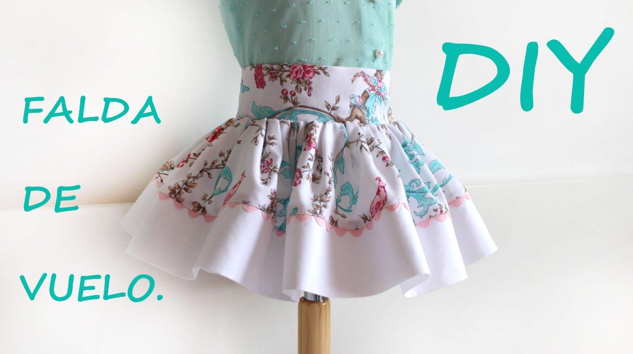 21f45c9ab Falda de vuelo para niña. Como hacer ropa infantil.
