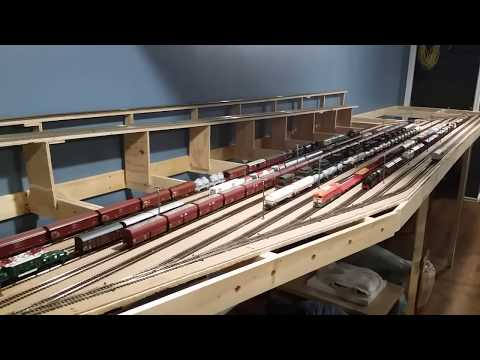 Gabor's HO scale model train layout under construction