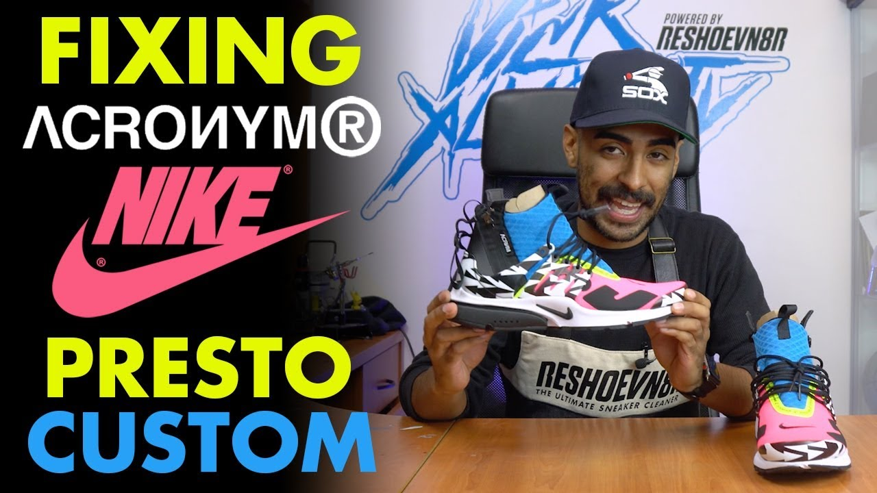d636d56ed0e2 Fixing Nike Acronym Presto Mid Custom by Vick Almighty - YouTube