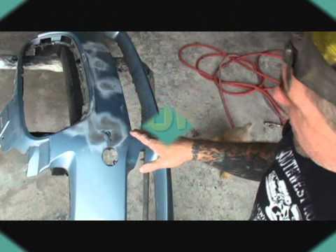 Car Bumper Repair How To Fix A Cracked Bumper Cover Doovi
