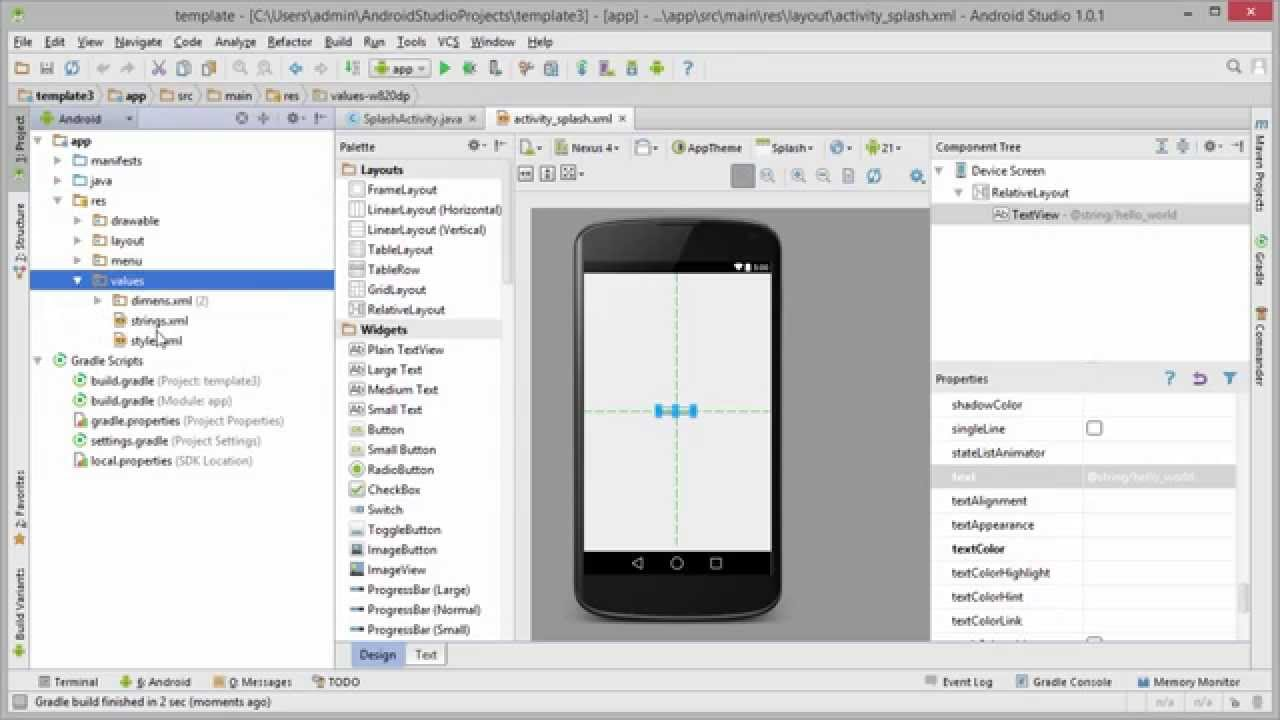 Android tutorial 10 creating an app template android android tutorial 10 creating an app template android development tutorial youtube pronofoot35fo Images