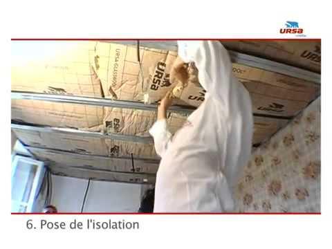 comment isoler un plafond rapport avec ursa youtube. Black Bedroom Furniture Sets. Home Design Ideas