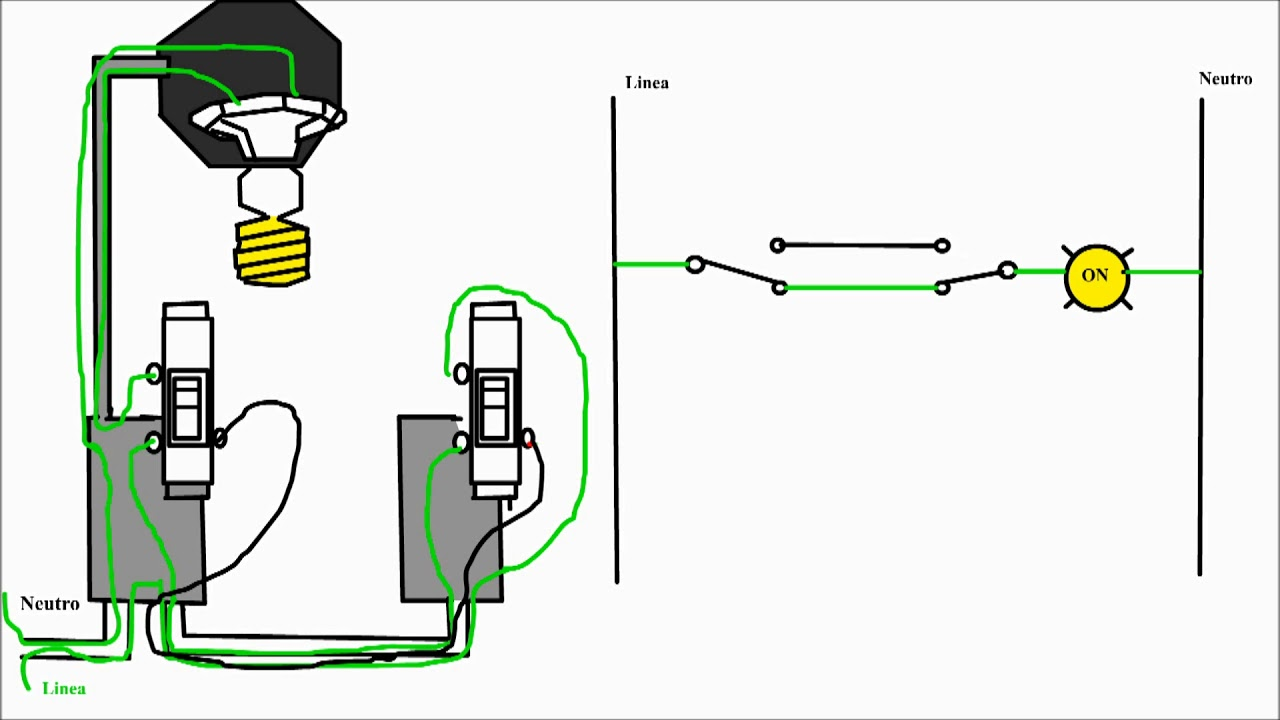 Como conectar interruptor de tres vias como instalar - Instalar interruptor conmutador ...