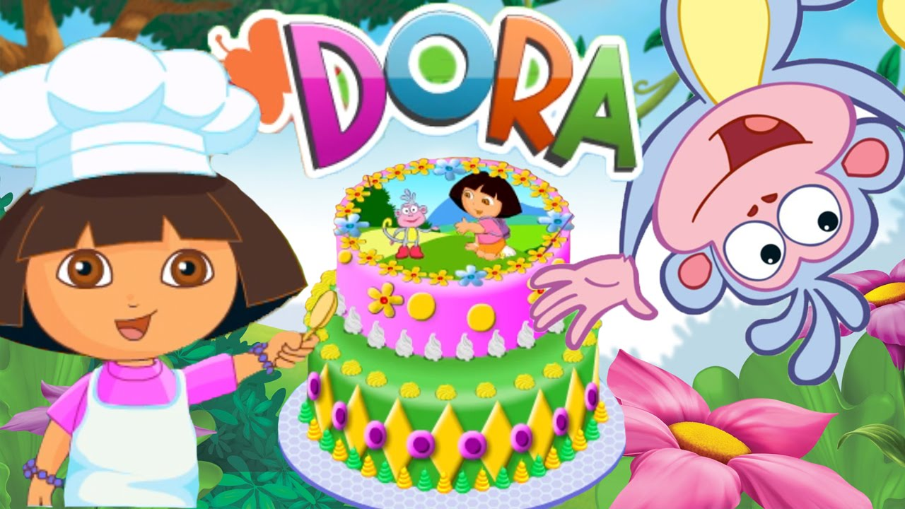 Dora Cake Decor Online Game Bake A Birthday Cake With Dora The