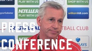 Alan Pardew Pre-Stoke City Press Conference