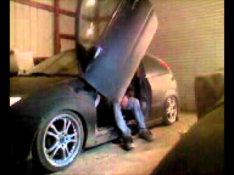 my ford focus bagged with lambo doors & my ford focus bagged with lambo doors - YouTube