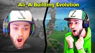 Ali-A Fortnite Building Evolution from October 2017 to Now !!!