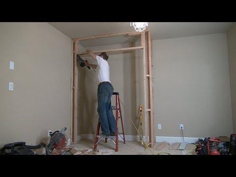 How To Build A Closet Frame / Bedroom Closet. Part 1. Строим кладовку