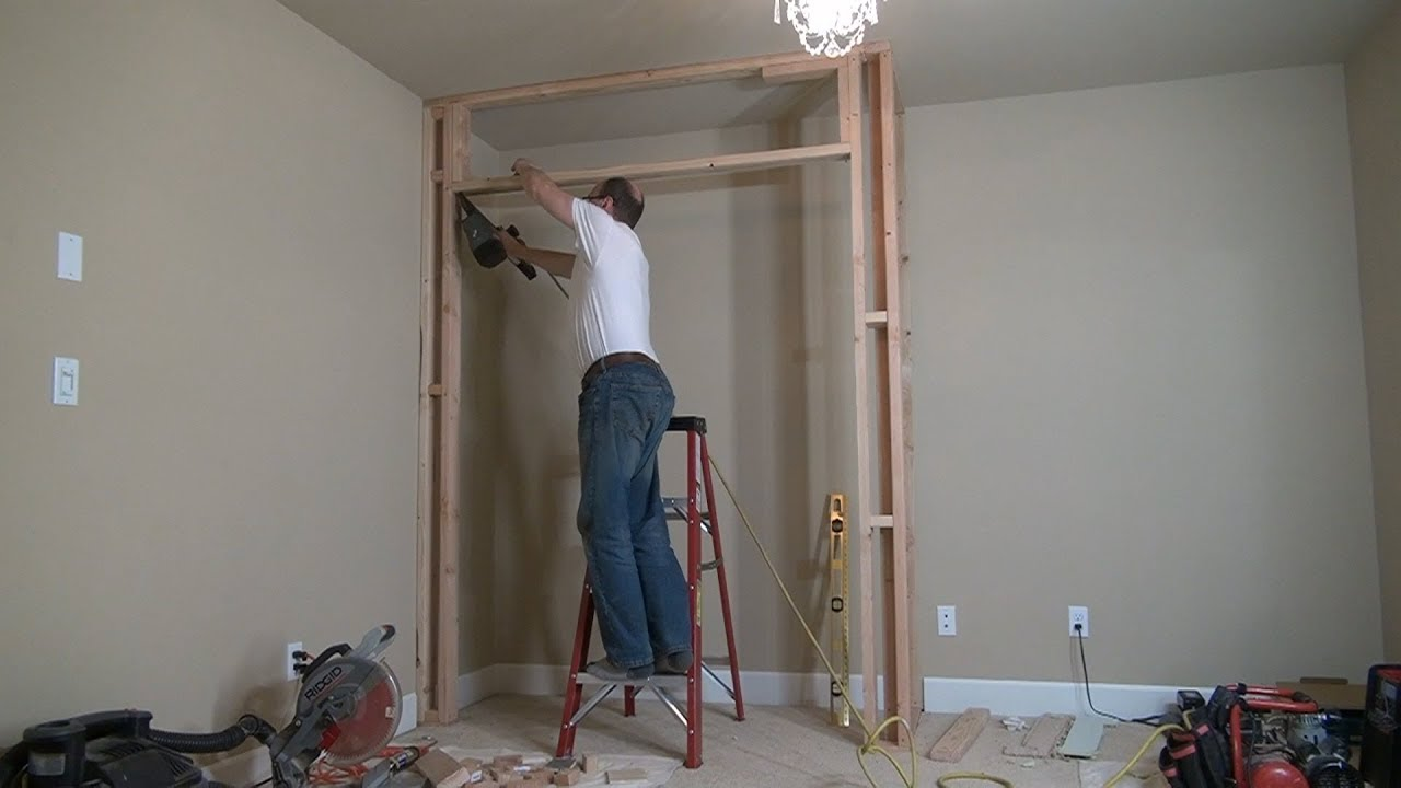 How To Build A Closet Frame Bedroom Closet Part 1 строим кладовку Youtube