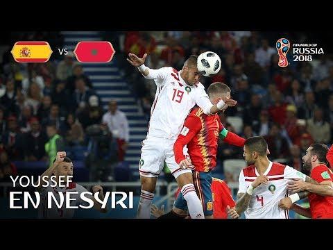 Youssef EN NESYRI Goal - Spain v Morocco - MATCH 36
