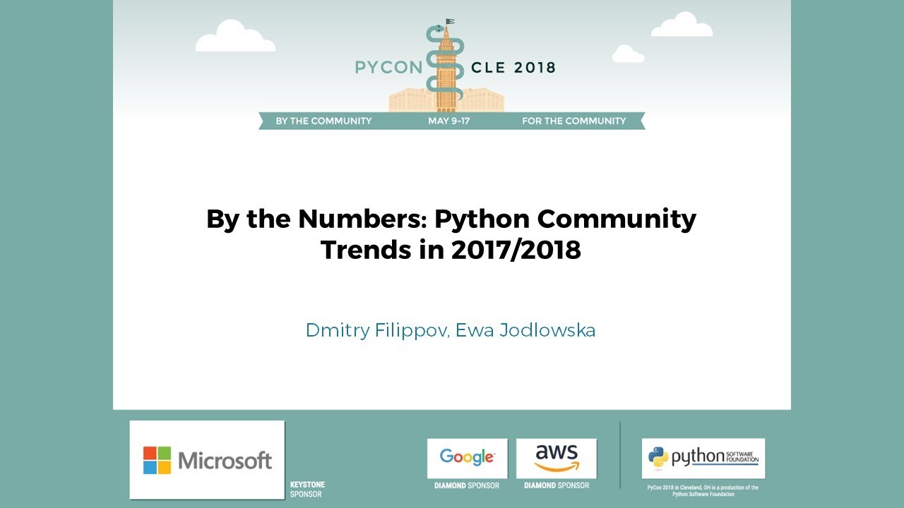 Image from By the Numbers: Python Community Trends in 2017/2018