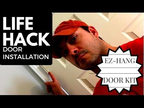 EZ HANG DOOR INSTALLATIONLIFE HACK  EZ HANG DOOR INSTALLATION   YouTube. Ez Hang Exterior Door. Home Design Ideas