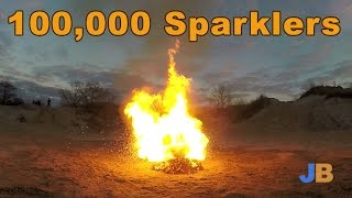 100,000 Sparklers Show (10,000 x 10)