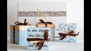 Tutorial Caja Regalo para Bebe   Baby Gift Box Tutorial, Kora projects.