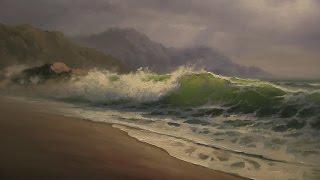 морской пейзаж маслом южаков