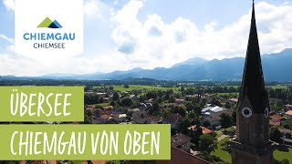 Übersee Chiemsee-Chiemgau Drohnenaufnahme