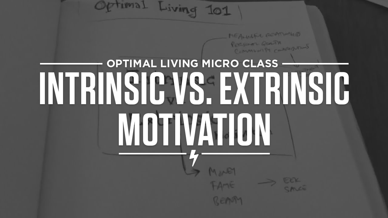 intrinsic vs extrinsic motivation extrinsic motivation