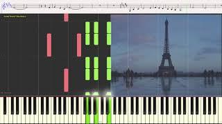 Под небом Парижа - Эдит Пиаф (Ноты и Видеоурок для фортепиано) (piano cover)