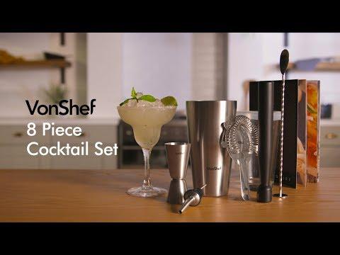 VonShef 8pc Boston Cocktail Set