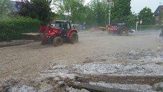 Unwetter schwemmt Schlammlawine nach Liebenau