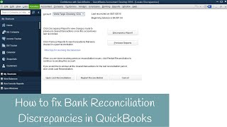 How to fix Bank Reconciliation Discrepancies, Beginning balance is off in QuickBooks