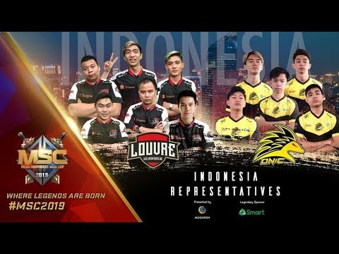 NOBAR MSC MLBB SOUTHEAST ASIACUP 2019 GRANDFINAL #indopride LOUVRE VS ONIC FINAL UPPER BRACKET