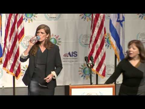 U.S. Ambassador to the United Nations Samantha Power's Speech in Israel