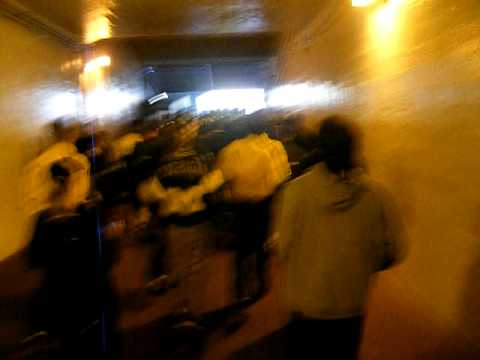 Running Out the Michigan Stadium Tunnel