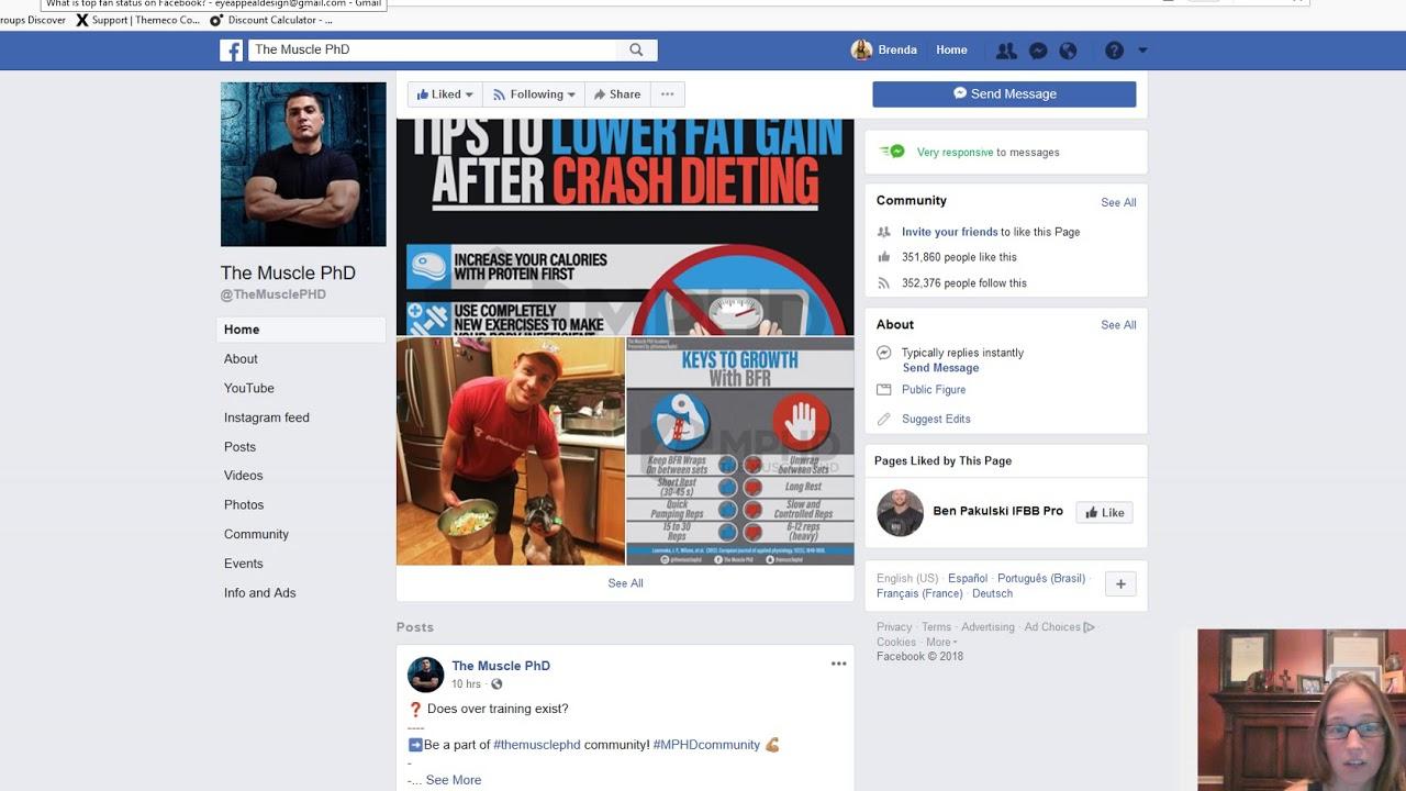 What is top fan status on Facebook?