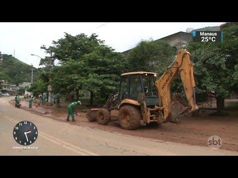 Sobe para quatro o número de mortos em Petrópolis por conta da chuva | SBT Notícias (13/03/18)