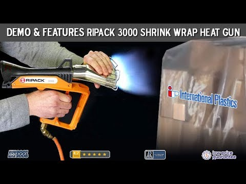 Shrink Wrap Heat Gun Ripack 3000 Propane Powered Used For Shrink Bags And Film Youtube